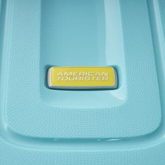 American Tourister Lightrax Turquoise Logo