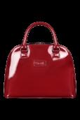 Plume Vinyle Handle Bag M