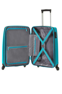 American Tourister Waverider Cabin Baggage 55cm Spinner - Turquoise