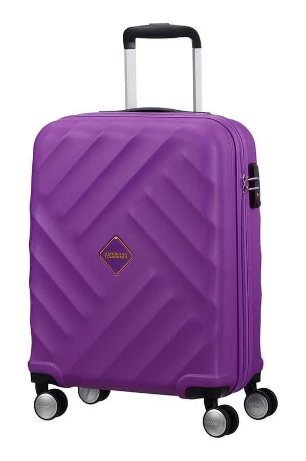 Crystal Glow 4-wheel cabin baggage Spinner suitcase 55x40x20cm